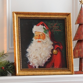 Merry Christmas Santa Framed Art Print