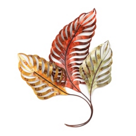 Palm Leaves Metal Wall Plaque