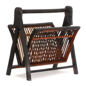 Bamboo & Wood Magazine Rack