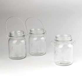 Mason Jar Candle Holder, Set of 3