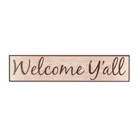 Welcome Y'All Wall Plaque