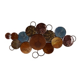 Global Circles Metal Wall Art
