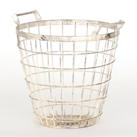 Medium White Wire Basket