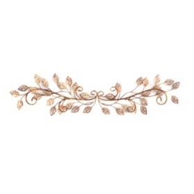 Golden Leaf Metal Wall Art