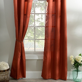 Spice Orange Curtain Panel Set, 96 in.