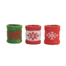 Christmas Sweater Votives, Set of 3