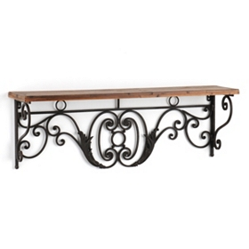 Metal Scroll Wall Shelf