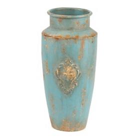 Aqua Metal Floor Vase