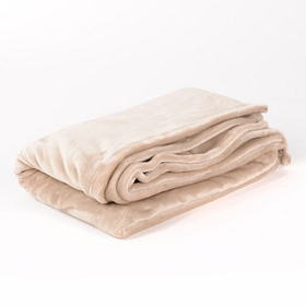 Tan Luxury Plush Throw Blanket