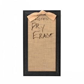 Glass & Burlap Dry Erase Board