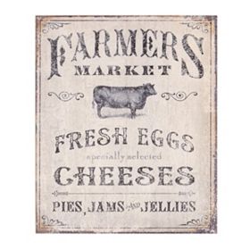 Farmer's Market Wall Plaque