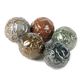 Glazed Ceramic Orbs