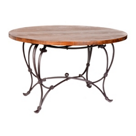 Round Wood Top Dining Table