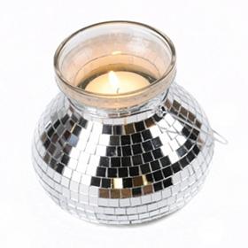 Mirrored Mosaic Glass Lantern