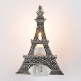 Pewter Eiffel Tower Night Light