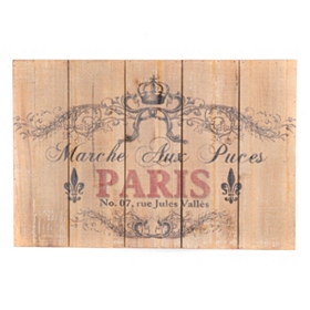 Paris Flea Market Wood Wall Plaque
