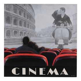 Cinema Roma Wood Art