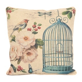 Birds & Blooms I Accent Pillow