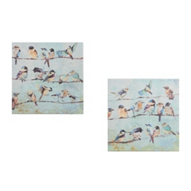 Birds on a Wire Canvas Art Prints
