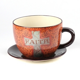 Faith Tea Cup Planter