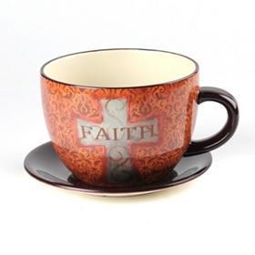 Faith Tea Cup Planter