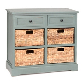 Blue 6-Drawer Storage Chest with Baskets