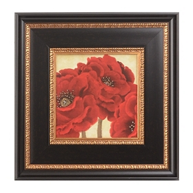 Jacobean Poppies II Framed Art Print