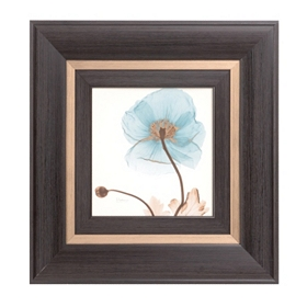 Blue X-ray Floral I Framed Art Print