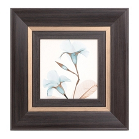 Blue X-ray Floral II Framed Art Print