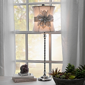 Floral Bling Buffet Lamp