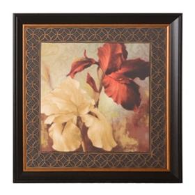 Red Iris & Lilies I Framed Art Print