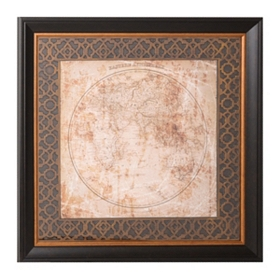 Hemisphere Maps II Framed Art Print