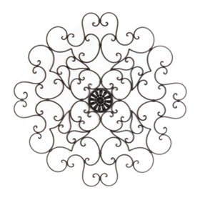 Medallion Bloom Wall Plaque
