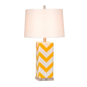 Yellow Chevron Table Lamp