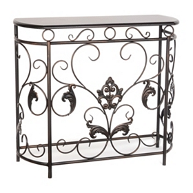 Bronze Acanthus Leaf Console Table