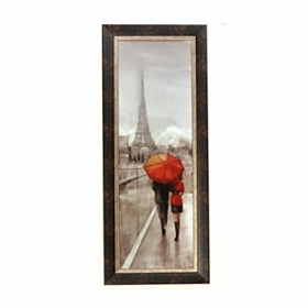 Stroll In Paris Framed Art Print
