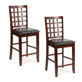 Weston Mahogany Counter Stool, Set of 2