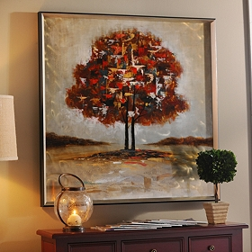 Shades of Autumn Framed Metal Art