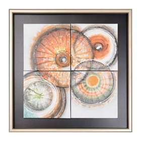 Abstract Orbs Framed Oil Painting