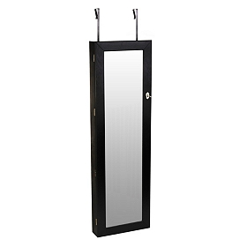 Black Over the Door Jewelry Armoire