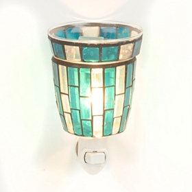 Blue Mosaic Tile Tart Burner Night Light