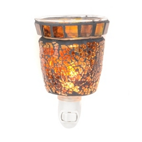 Amber Crush Mosaic Tart Burner Night Light