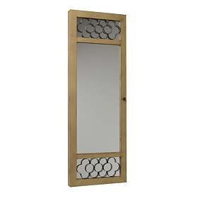 Natural Wood Armoire Mirror