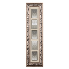 Antique Silver 5-Opening Collage Photo Frame