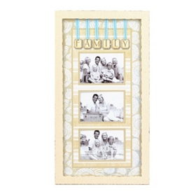 Coastal Family 3-Opening Collage Frame