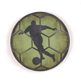 Soccer Ball Metal Wall Plaque