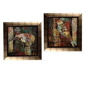 Patchwork Bird Framed Art Print