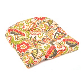 Floral Burst Outdoor Seat Cushion