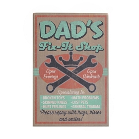 Dad's Fix-It Shop Wall Plaque