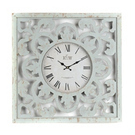 Distressed Blue Cutout Clock